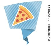 pizza colorful icon. vector... | Shutterstock .eps vector #443098591