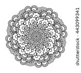 round element for coloring book.... | Shutterstock .eps vector #443099341