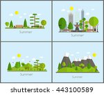 summer time background set in... | Shutterstock .eps vector #443100589