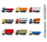 trucks icons detailed photo... | Shutterstock .eps vector #443100697