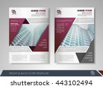 front and back page brochure...   Shutterstock .eps vector #443102494