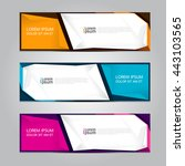 vector design banner background. | Shutterstock .eps vector #443103565