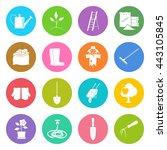 set of garden tools  round... | Shutterstock .eps vector #443105845