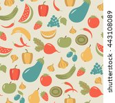 seamless pattern with fruits...
