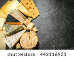 various types of cheese with... | Shutterstock . vector #443116921