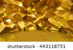 festive golden background with... | Shutterstock . vector #443118751
