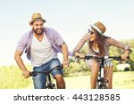 picture of romantic couple... | Shutterstock . vector #443128585