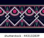 oriental ethnic pattern... | Shutterstock .eps vector #443132839