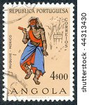 angola   circa 1957  people of... | Shutterstock . vector #44313430