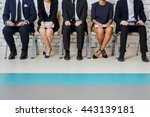 business people waiting for job ... | Shutterstock . vector #443139181