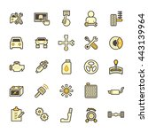 car and mechanic vector icon... | Shutterstock .eps vector #443139964