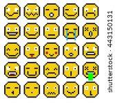set of emotions set of emoji... | Shutterstock . vector #443150131