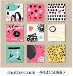 set of  creative  cards. hand... | Shutterstock .eps vector #443150887