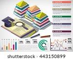 illustration of infographic... | Shutterstock .eps vector #443150899