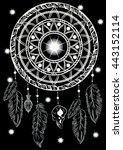 dreamcatcher with shining star... | Shutterstock .eps vector #443152114