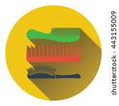 hairbrush icon. flat color...