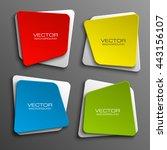 design shape origami vector... | Shutterstock .eps vector #443156107