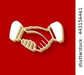 black icon handshake....   Shutterstock .eps vector #443156461