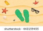 beautiful beach top view. | Shutterstock .eps vector #443159455