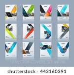vector design for cover annual... | Shutterstock .eps vector #443160391