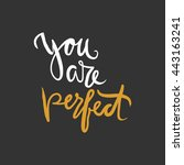 you are perfect.modern... | Shutterstock .eps vector #443163241