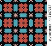 abstract seamless pattern.... | Shutterstock .eps vector #443167387