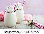 vanilla funfetti milkshake with ...