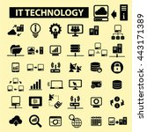 it technology icons | Shutterstock .eps vector #443171389
