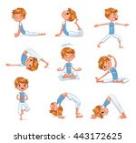 boy engaged in physical... | Shutterstock .eps vector #443172625