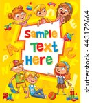 children book cover. template... | Shutterstock .eps vector #443172664