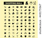shopping mall icons | Shutterstock .eps vector #443175367