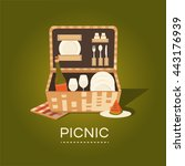vector illustration of a picnic ... | Shutterstock .eps vector #443176939
