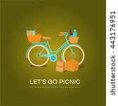 illustration let's go to picnic.... | Shutterstock .eps vector #443176951