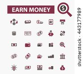 earn money icons | Shutterstock .eps vector #443177989