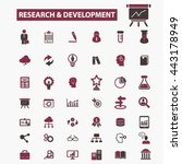 research development icons | Shutterstock .eps vector #443178949