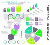 infographic elements collection ... | Shutterstock .eps vector #443182867