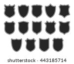 set of shields isolated on... | Shutterstock . vector #443185714
