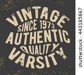 t shirt print design. vintage... | Shutterstock .eps vector #443185867