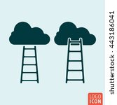 ladder to clouds icon isolated. ...