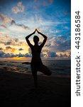 Yoga On The Beach  Tree
