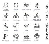 health conditions   diseases  ... | Shutterstock .eps vector #443186734