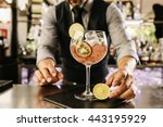 expert barman is making... | Shutterstock . vector #443195929