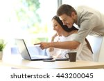 side view of a happy couple... | Shutterstock . vector #443200045