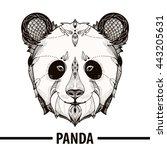 zentangle stylized cartoon of... | Shutterstock .eps vector #443205631
