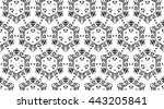 ornament with elements of black ... | Shutterstock . vector #443205841