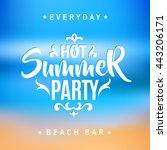 summer vector illustration... | Shutterstock .eps vector #443206171