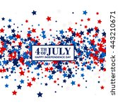 4th of july festive banner with ... | Shutterstock .eps vector #443210671