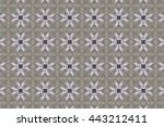 grey pattern with different... | Shutterstock . vector #443212411
