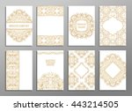 set of flyer pages ornamental...