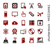 technology icons set computer ... | Shutterstock .eps vector #443216461